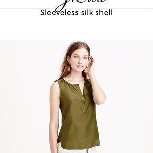 J. Crew sleeveless silk shell in peach